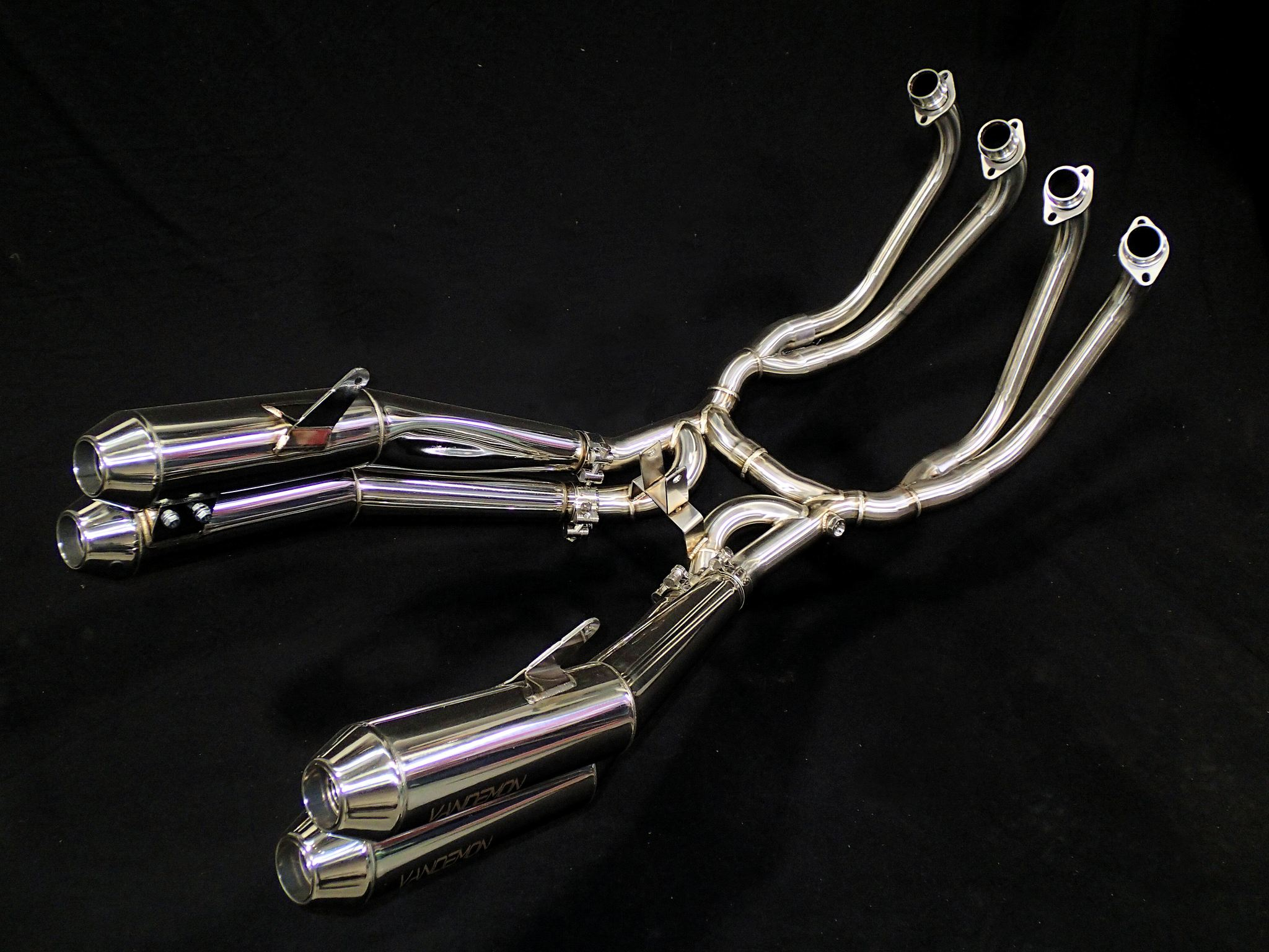 KAWASAKI Z900RS CAFE RACER RETRO STAINLESS STEEL EXH SYSTEM 2018-20