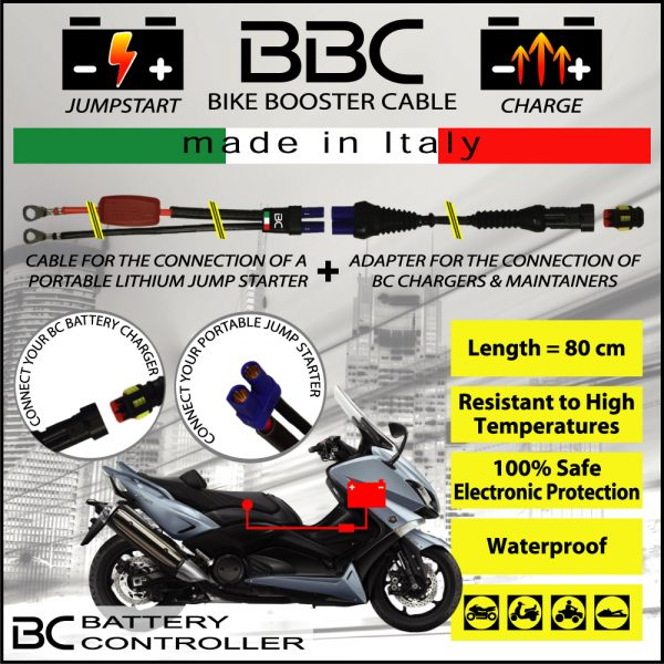 BC Battery Controller 709BBC BIKE BOOSTER CABLE 80CM