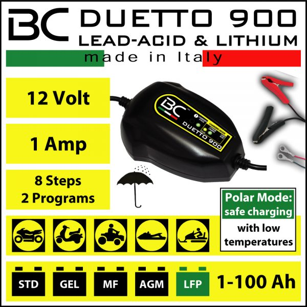 BC Battery Controller BC DUETTO 900 Charger & Maintainer