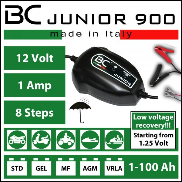 BC Battery Controller Junior 900 1amp Battery Charger & Maintainer