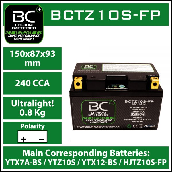 BC Battery Controller BCTZ10S-FP BC LITHIUM BATTERIES
