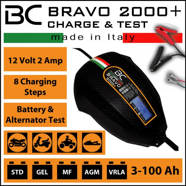 BC Battery Controller BC BRAVO 2000+ Charger & Maintainer