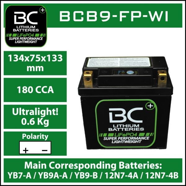 BC Battery Controller BCB9-FP-WI BC LITHIUM BATTERIES