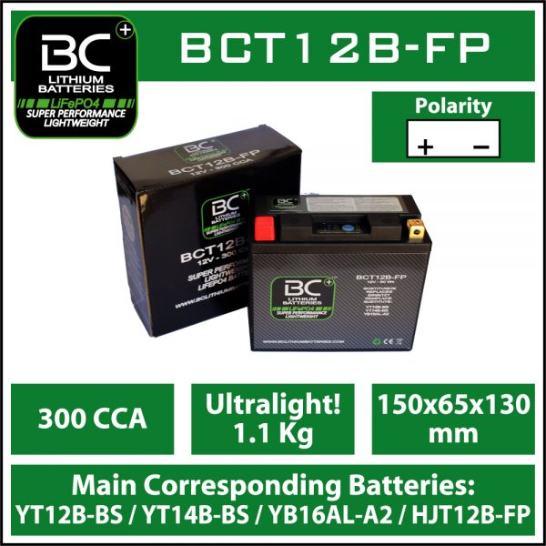 BC Battery Controller BCT12B-FP BC LITHIUM BATTERIES