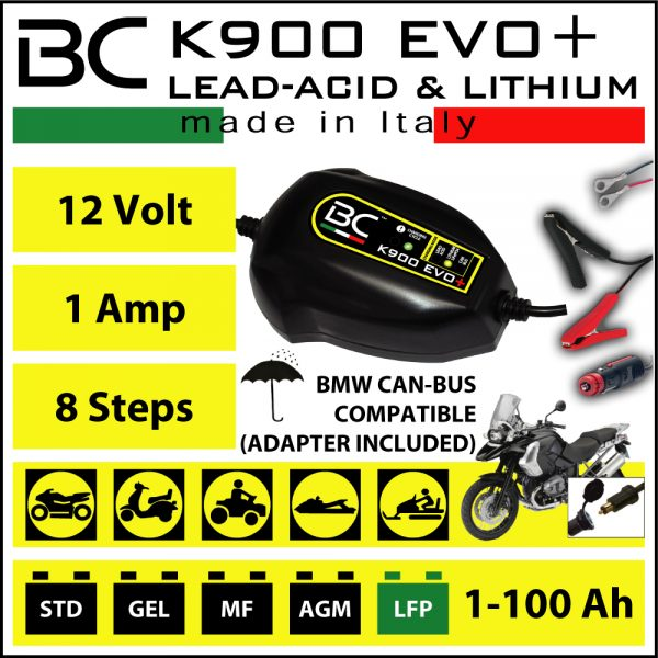 BC Battery Controller K900 Evo+ Lead Acid/Lithium & Can-Bus Compatible Charger