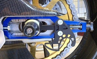 Speedycom Chain Adjusters complete with a stand Bracket.