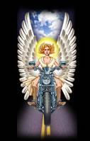"Angel Rider 8"" leather"