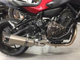 YAMAHA MT07 FZ07 & XSR TRACER VANDEMON STAINLESS STEEL EXHAUST SYSTEM 2014-20