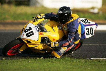 Carl Rennie at NW200 2008 Black with Blue adjuster Long Clutch & Pazzo Brembo